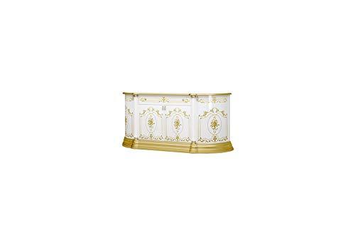 Interdesign24 Barock Sideboard Highboard Buffetschrank in Weiß/Gold 4-Türig