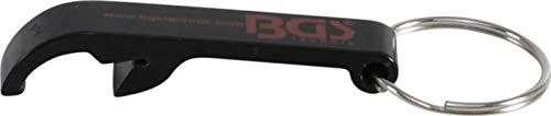 BGS Öffner | BGS® Flaschenöffner | Aluminium | schwarz | Schlüsselanhänger | Bierflaschenöffner | Kapsel-Öffner