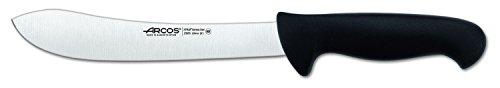 Arcos Séries 2900 - Couteau de Boucher Couteau à Steak - Lame Acier Inoxydable Nitrum 200 mm - Manche Polypropylène Couleur Noir
