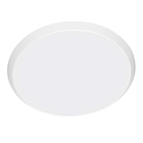 BAM - Store Lámparas de Techo LED Redondas de 36W, Lámpara de Techo de Color Blanco de la luz del día, IP44 Impermeable 180 ángulo de Haz Poco de Techo Iluminación Interior para Dormitorio,36W