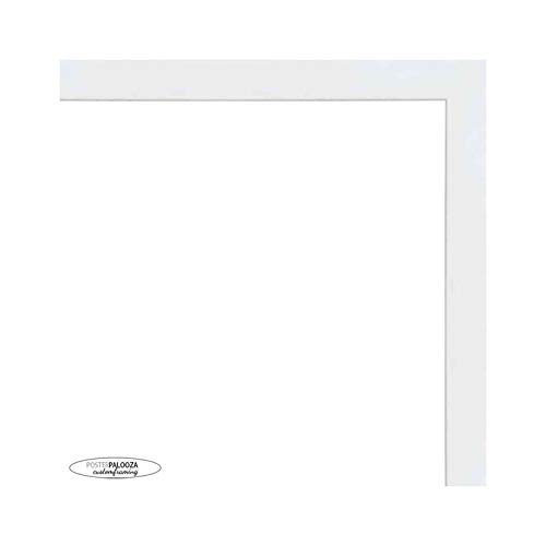 Poster Palooza 30x30 Contemporary White Wood Shadow Box Square Frame - UV Acrylic, Acid Free Backing, & Hanging Hardware Included!