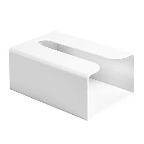 UPKOCH Handtuchspender Wandmontage Papiertuchspender Wand Tissue Box Keine Spur Taschentuch Kosmetiktücher Papierhandtuch Küchenpapier Spender Küche Bad Tücherbox Weiß