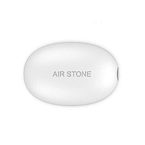 LACKINGONE Bomba de Aire portátil Carga USB Oxígeno Super Mudo Compresor de Aire Acuario para Tanque de Peces Pesca al Aire Libre Camping AC/DC Batería de Litio Ultra silencioso Mini (1 Set, Blanco)