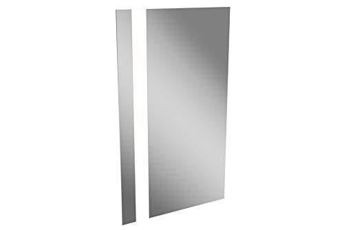 LANZET LED Spiegel VEDRO / Wandspiegel mit indirekter LED Beleuchtung / Maße (B x H x T): ca. 50 x 84 x 3 cm / Spiegel fürs Bad oder Gäste WC / Badspiegel mit Schalter / links + rechts verwendbar