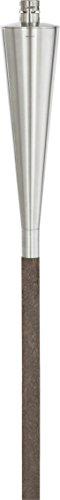 blomus -ORCHOS- Gartenfackel aus Hartholz / Edelstahl, 300 ml Fassungsvermögen, lange Brenndauer, Lampenöl, Outdoor, exklusives Gartenaccessoire (H / B / T: 151,5 x 7 x 7 cm, Edelstahl / Braun, 65007)