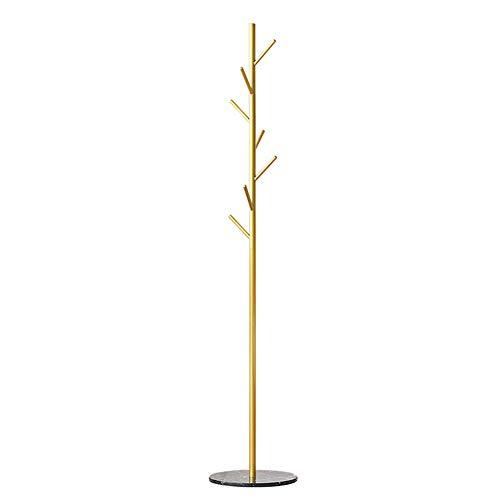 Perchero de hierro vertical con gancho vertical para interior dormitorio, sala de estar y colgar la bolsa de sombrero de 10,27 (color: negro)