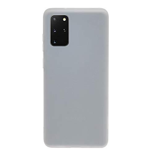 BEIJING  PROTECTIVECOVER+ / Galaxy S20 Plus Frosted Color Color Coloree TPU Ultrafino TPU Funda, Fashion Phone Funda para Protector (Color : Blanco)