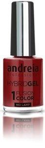Andreia professionele hybride gel nagellak - 2 stappen en geen lamp vereist Langdurige en eenvoudige verwijdering - Fusion Color H43 Chocolade |Tinten roze en rood