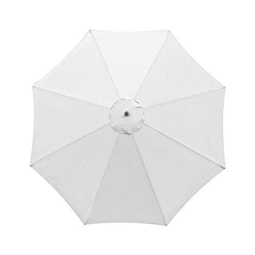 YEVYG 31Ters 8 Reemplazo de Hueso Cubierta de toldo Shade Paño Sombrilla Paraguas Patio al Aire Libre Suministros de jardín (Color : White)