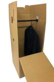 引越し・保管用ハンガーボックス(テープ不要/組み立て式)K5Wダブル構造 ※個人様宅は配送不可|ダンボール/段ボール/衣装収納/ハンガーケース/梱包/箱