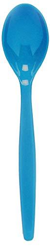 Cucharillas de policarbonato reutilizables ideales para fiestas color azul barbacoas y Picnics,/10/unidades