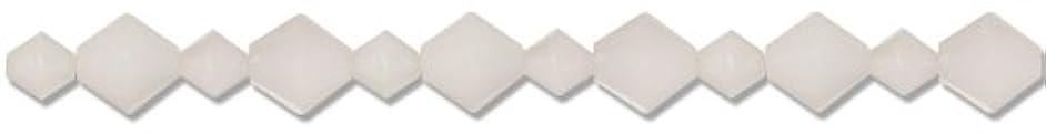Cousin Jewelry Basics 35-Piece Acrylic White Bicone Mixed Beads