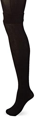 Pretty Polly Damen Secret Socks Tights Strumpfhose, 60 DEN, Schwarz (Black Black), Large (Herstellergröße: ML)