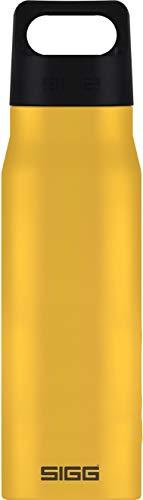 SIGG Explorer Mustard Trinkflasche (1 L), schadstofffreie und auslaufsichere Trinkflasche, robuste und geruchsneutrale Trinkflasche aus Edelstahl