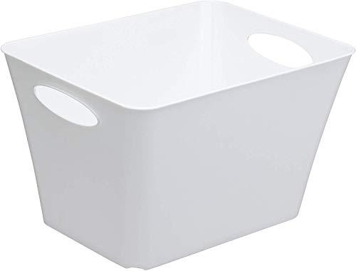 Rotho Living Aufbewahrungsbox 44 l, Kunststoff (PP), weiss, 44 Liter (52,6 x 39,2 x 31 cm)