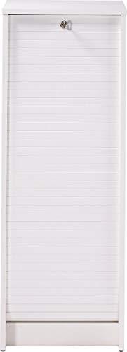 SIMMOB Classeur Blanc Rideau imprimé Hauteur 104 cm, Bois