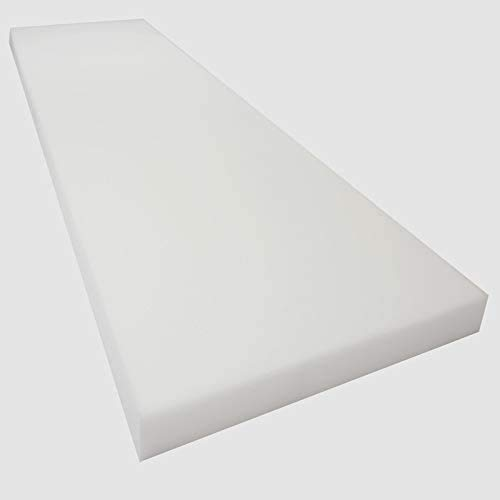 Mybecca 4H x 24W x 72L High Density Firm Upholstery Foam Sheet for Seat Replacement, Cross-Sectional Cushion Pad, Foam Padding, Boat Seat, Benches & Auto Car Seats