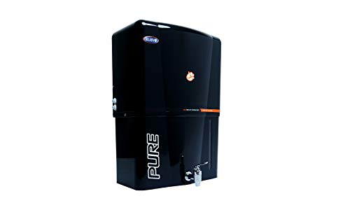 Ruby Alkaline Black Water Purifier with Copper + RO + UF + UV + TDS Control 12 Litres Storage & One TDS meter free