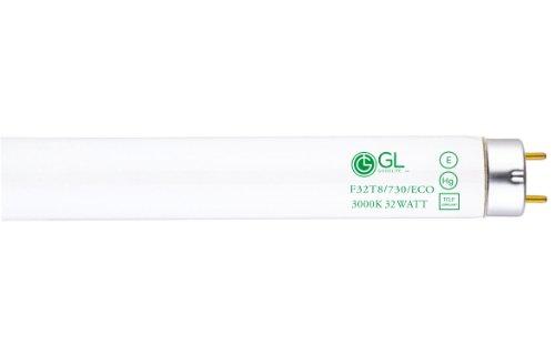 Goodlite G-20222 F32T8/730/ECO Straight 32 Watt 48-Inch Inch T8 Fluorescent Tube Light Bulb Warm White 3000k, 30 Pack