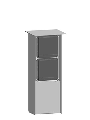 Jehoka E-zuil 250 uitgerust met Berker schemerschakelaar & stopcontact (grijs)