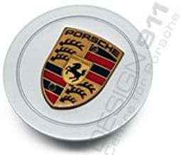 Hub Caps Assembly For 991 GT3RS 911 GT2 MACAN TAYCAN PANAMERA ETC Wheel Center Mag Rim Hubcap Emblem Logo Sticker PLEASE MEASURE Before Purchase for Best Fitment RENGVO BLACK 76MM 3 inch Pack of 4