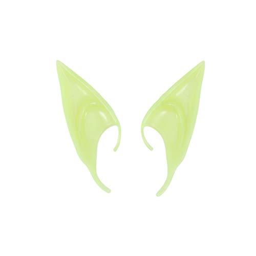 VOSAREA 3 Paare im Dunkeln leuchten elf Ohr Elf verkleiden Kostüm Kobold Ohren Cosplay Halloween-Party Requisiten Vampir Fee Ohren