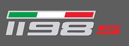 1 Aufkleber Ducati 1198 S für Tank Fahne Dreifarbig - Rot