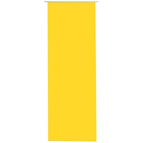 Bestlivings Flächen-Vorhang Blickdicht Schiebe-gardine Raumteiler Schiebe-Vorhang ca.60cm x 245cm, Auswahl: ohne Zubehör, gelb - Sonnengelb