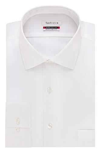 Van Heusen Men's Dress Shirt Flex Regular Fit Solid