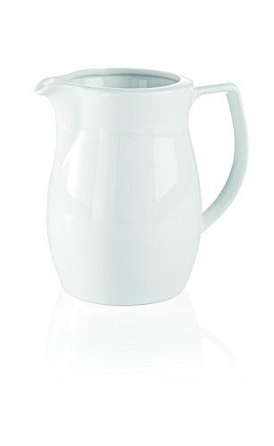 Krug aus Porzellan in weiß (Inhalt: 1,0 ltr., Höhe: 15 cm, Durchmesser: Ø 10 cm)