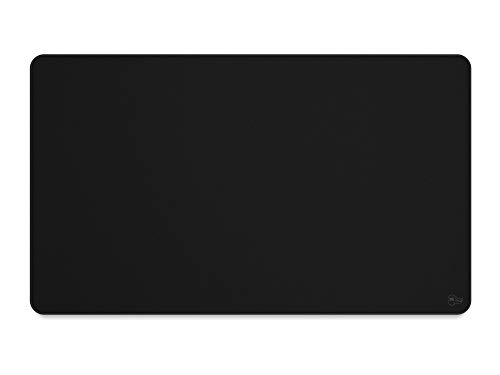 """Glorious XL Extended Gaming Mouse Mat / Pad - Stealth Edition - Large, Wide (XL) Black Cloth Mousepad, Stitched Edges   14""""x24"""" (G-P-Stealth)"""