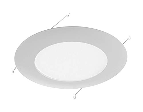 NICOR Lighting 6 inch White Recessed Shower Trim with Albalite Lens (17505)