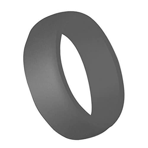 XDY 8.7mm Anillo de Silicona Curvada para Hombre Anillo DE Silicona DE SILICONOS AIRNETOS para Hombres Anillos Unisex Accesorios DE Accesorios Ojos,Dark Gray,9#18.9mm