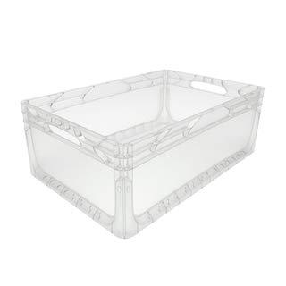 1 Stück Euronorm Behälter<br/>L 600 x B 400 x H 220 mm<br/>transparent geschlossen<br/>Handgriffe offen