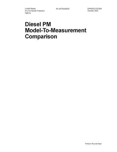 Diesel PM Model to Measurement Comparison (English Edition)