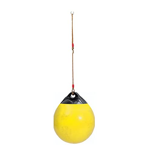 MiduoHu Kids Tree Swing Seat Ball Round Disc Children's Monkey Rope Swing Garden Playground Camping Playing Toy (Color : Yellow, Size : 38cm in diameter)
