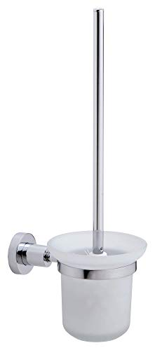 Price comparison product image tesa Loxx No Drill,  Wall Mounted Toilet Brush,  Chrome-plated metal,  Removable Adhesive Glue Technology