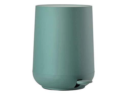 Zone Denmark 361131 NOVA ONE Papelera con pedal, cubo de basura para el baño, Ø: 23 cm con Soft-Touch y función Soft Close – verde menta, cactus