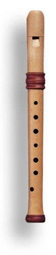 Mollenhauer 4117 Adris Traumflöte Renaissance-Art Sopran-Blockflöte Barock Einfachloch (OHNE Doppelloch!) Birnbaum Natur-Holz - Sopranflöte in C inkl. Baumwolltasche, Wollwischer, Fettdöschen, Grifftabelle und Pflegeanleitung