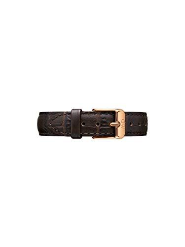 Daniel Wellington Petite York, Braun/Roségold Uhrenarmband, 14mm, Leder, für Damen