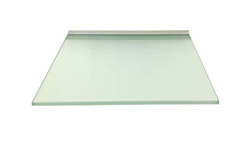 Regale4You Glasregal Quadrat 30x30 cm satiniertes Glas mit Alu Profil Wandregal Board