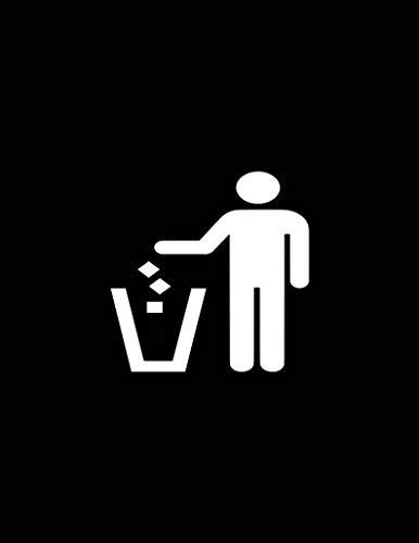 Divertidas calcomanías de vinilo con símbolo de cubo de basura, siluetas de coche, pegatinas de ventana para botellas, portátil, coches, arte de pared