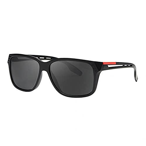 KUNIUO Gafas De Sol Polarizadas para Hombre Y Mujer, Gafas De Sol para Hombre, Gafas De Sol De Pierna Hueca Vintage para Hombre, Gafas De Moda Polarizadas Cuadradas, Oculos-03