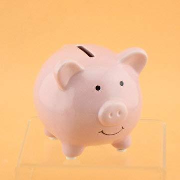 Masun Spardose aus Keramik für Münzen, Geldaufbewahrung, Geschenk für Kinder, rose
