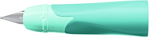 Rechtshänder-Griffstück für ergonomischen Schulfüller mit Standard-Feder M - EASYbirdy Pastel Edition in aqua grün/mint