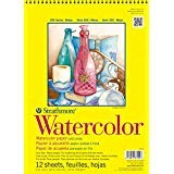 Strathmore 360900 Cold Press 140-Pound 12-Sheets Strathmore Watercolor Paper Pad, 9-Inch by 12-Inch (3, 1 PACK)