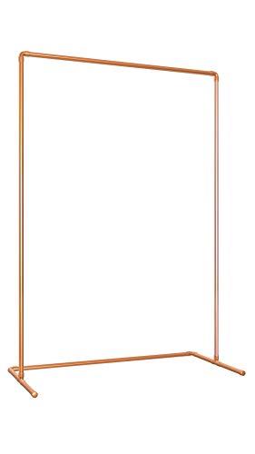 Kupfer Kleiderständer | Stylische Premium Kupferrohr Kleiderstange in Roségold | Industrial/Vintage Design | 150x100x50 cm | Freistehend | Qualität Made in Germany
