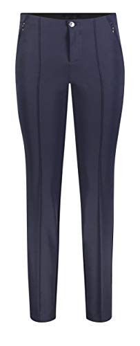MAC Jeans Damen Anna Zip New Hose, Blau (Dark Blue 198), W42/L30