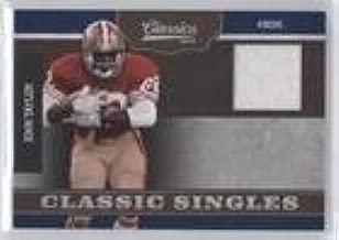 John Taylor #3/299 (Football Card) 2010 Classics - Classic Singles - Jerseys [Memorabilia] #16