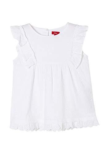 s.Oliver Junior Mädchen 403.10.103.10.100.2060313 Bluse, White, 128/134